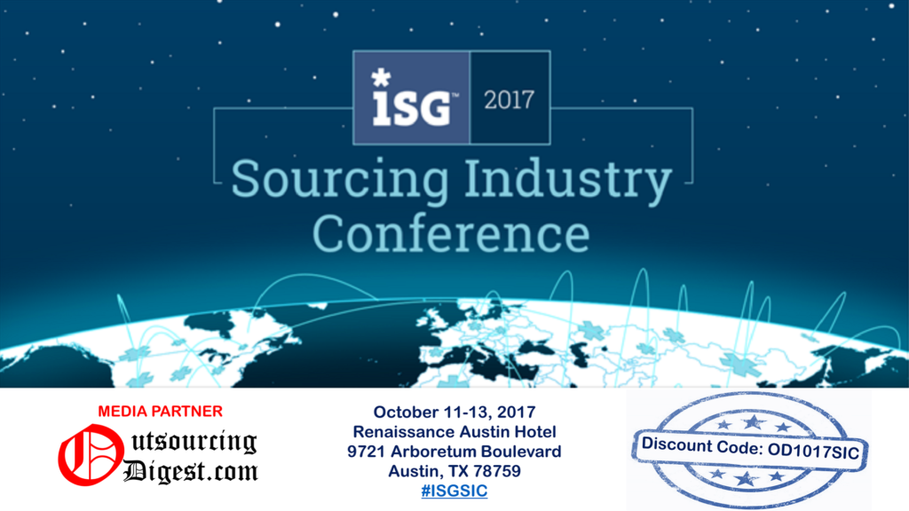 SOURCING INDUSTRY CONFERENCE – ISG - 2017